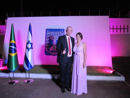 Embaixada de Israel inaugura  Iluminação  em  homenagem ao   'OUTUBRO ROSA'
