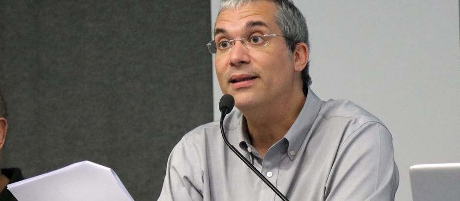 "Rabino Michel Schlesinger na mesa ""Brasil, Brasis e sua complexa formação social"" da USP"