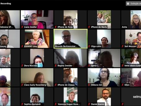 Grande comemoração online reúne grupos da Terceira Idade
