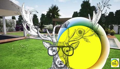 Conception 3D d'un jardin