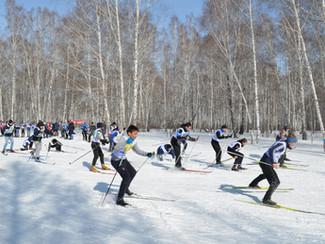 XIX спартакиада школьников Новосибирского района по лыжным гонкам.