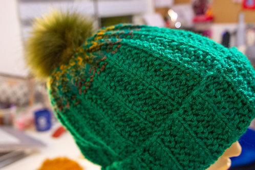 Jade Green knit Beanie Hat