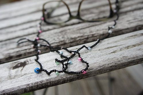 Beaded Handmade Crochet Lanyard for glasses, facemasks