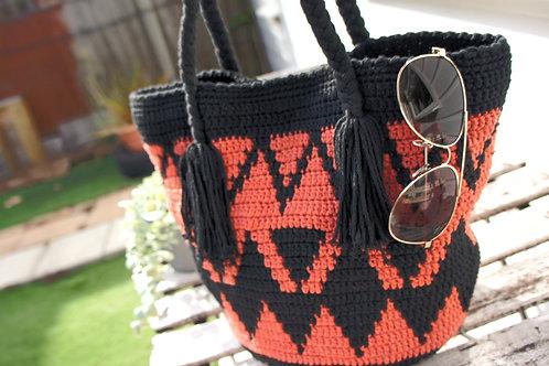 Wayuu Bag, Handmade woven handbag, Crossbody, Over shoulder double threads large