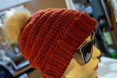 Terracotta colour  Crochet Hat
