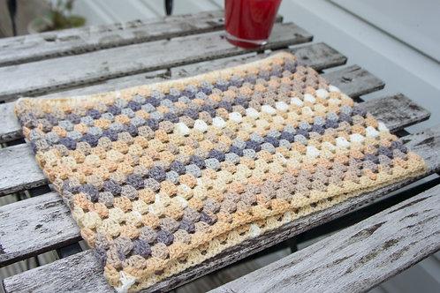 Snug Cowl/Scarf/Neck warmer granny square in light colours