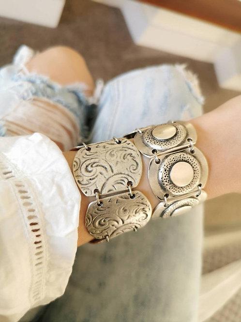 Antique Silver Large Chunky Bracelet