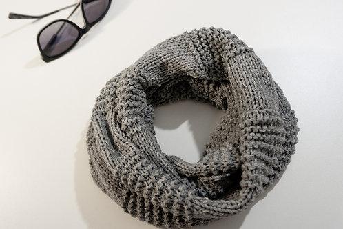 Grey Armour Knit Cowl/Scarf/Neck warmer
