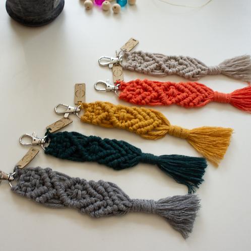 Macrame Keyrings with tassel