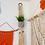 Thumbnail: Diamond pattern macrame small plant hanger