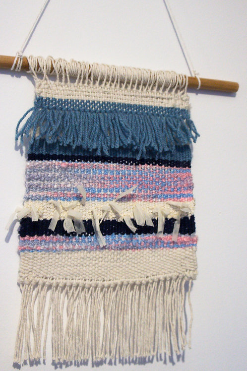 Weaving Wall Decoration- Blue waves