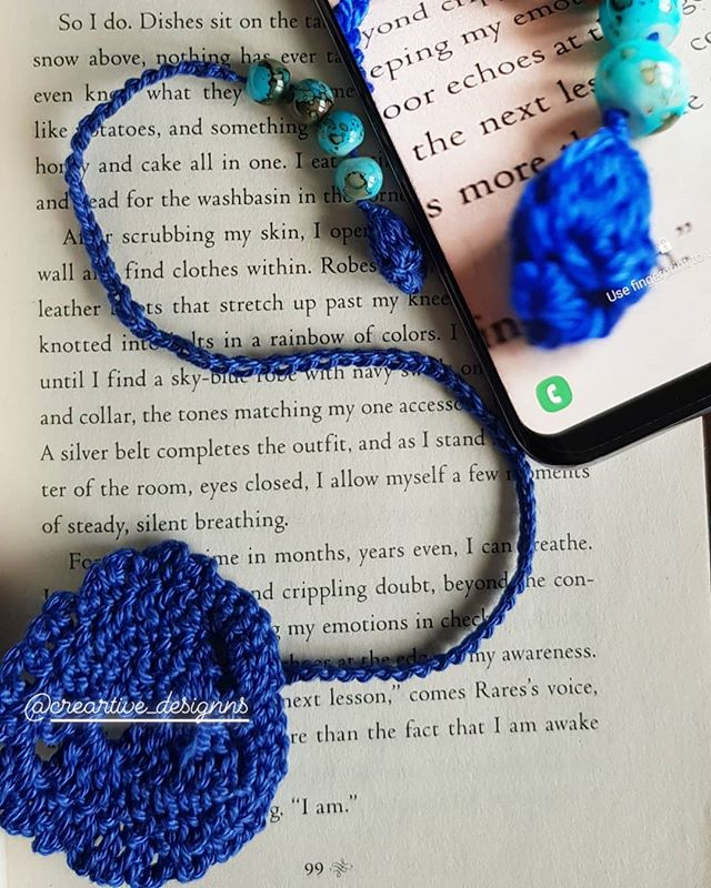 Bookmark art 🤩_#handmade #ilovecrochet