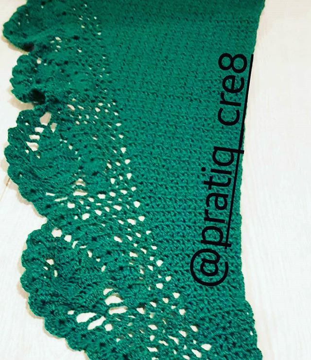 #shawl #green #crochet
