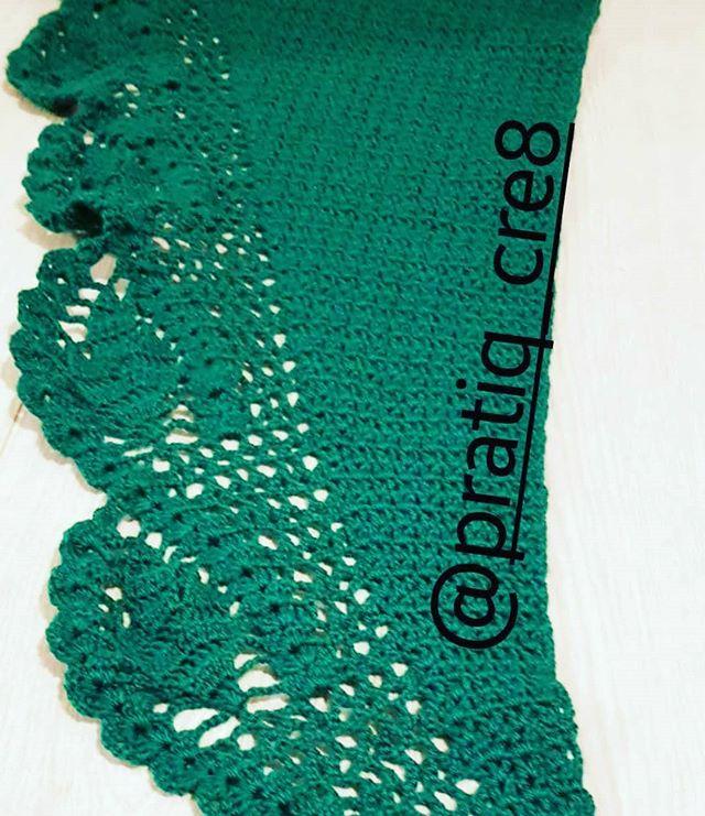 #shawl #green #crochet