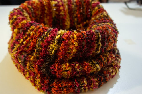 Knitted Terracotta Cowl/Scarf/Neck warmer