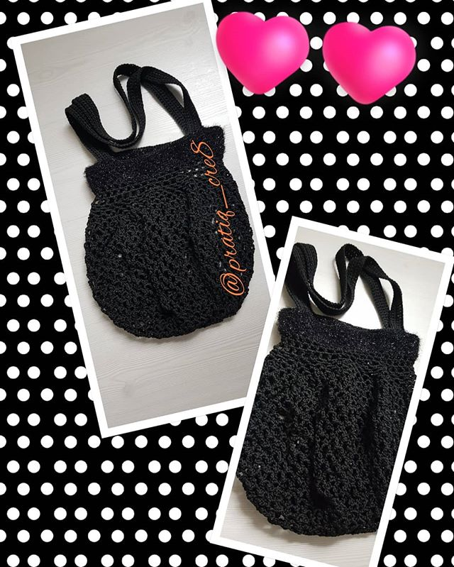 #shoppingbag #blackbag #handmade #mywork