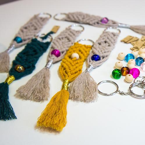 Macrame Keyrings with beads