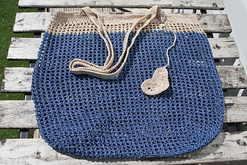 Simple Design Honeycomb Mesh Pattern Crochet Bag