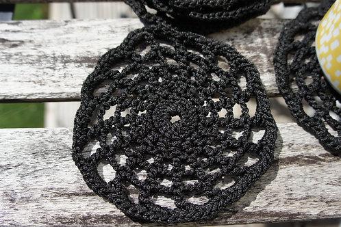 Black Web Coasters
