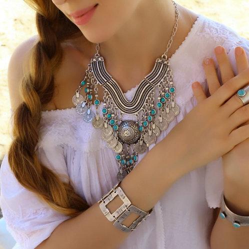 Turquoise Stone Bohemian Necklace