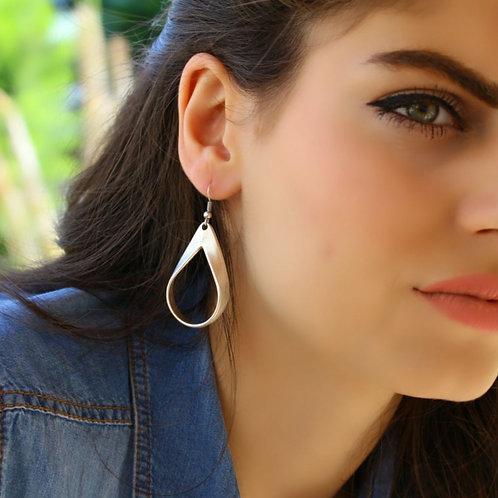 Antique Silver Teardrop Earrings