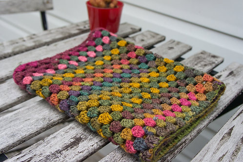 Cowl/Scarf/Neck warmer granny square in soft colours