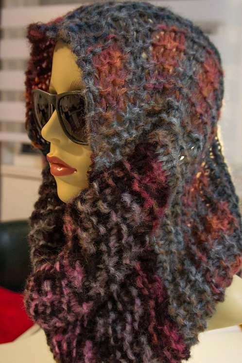 Vibrant Colours Twill Knit Cowl/Scarf/Neck warmer
