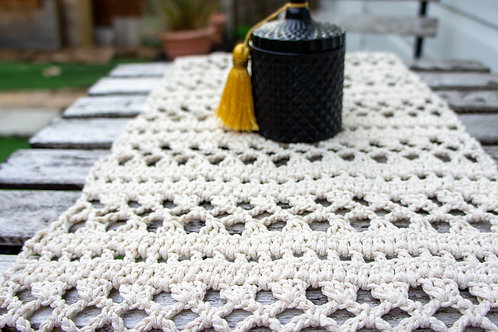 Cotton Macrame Crochet Runner, Boho style decoration, Rustic Wedding Decoration