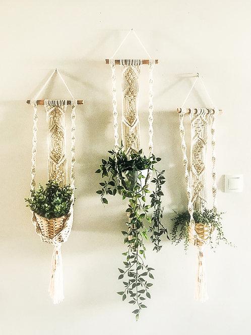 Macrame, long plant hanger, plant hugger, plant holder