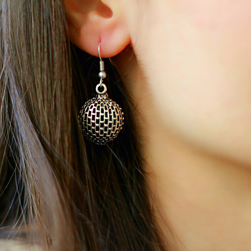 Authentic Silver Round Earrings