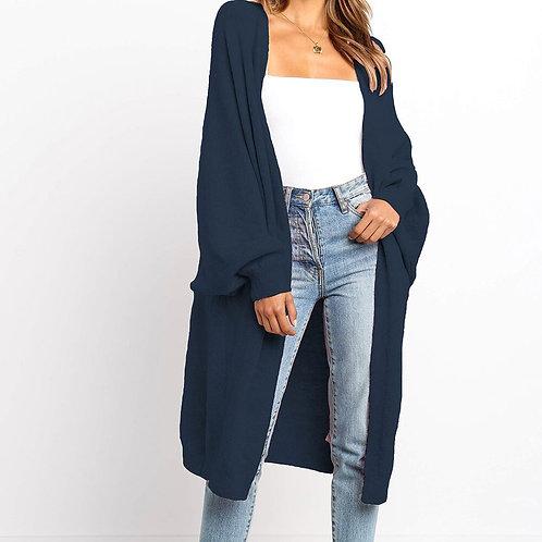 Vogue Nice Loose Knit Woolen Cardigan Sweater Long Sleeve