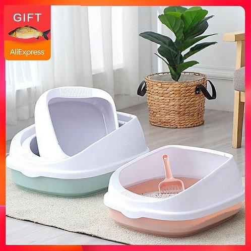 Pet Toilet Bedpan Anti Splash Cats Litter Box Cat Dog Tray With Scoop