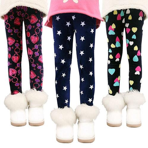 Girls Pants Kids Autumn Winter Keep Warm Leggings Thicken Pencil