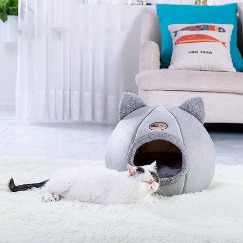 Deep Sleep Comfort in Winter Cat Kennel Kitten Bed Basket for Cat's