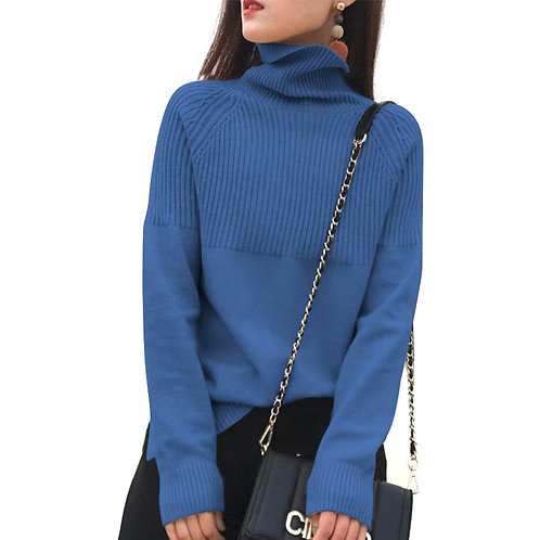 Pullover High Collar Soft Long Sleeves Fashion Casual Streetwear