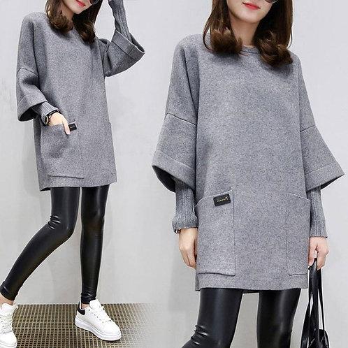 Knit Dress Autumn Winter Women Dress 2020 New Loose Large Size