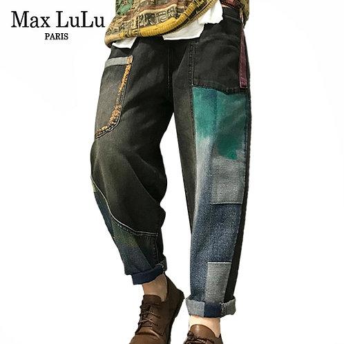 Max LuLu Korean Fashion Ladies Autumn Punk Harem Pants Vintage