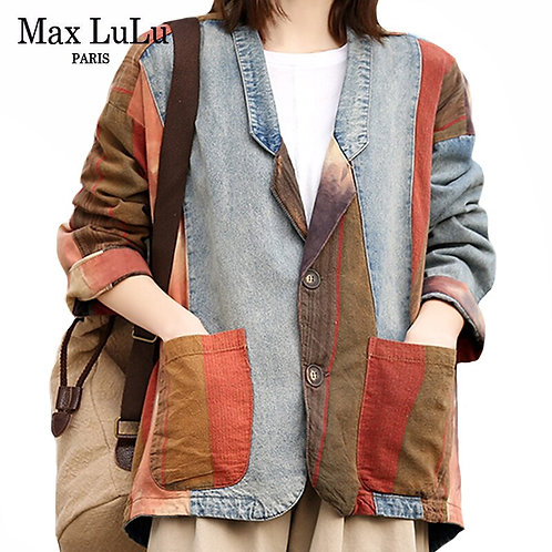 Max LuLu 2020 Korean Luxury Brand Clothes Women Vintage
