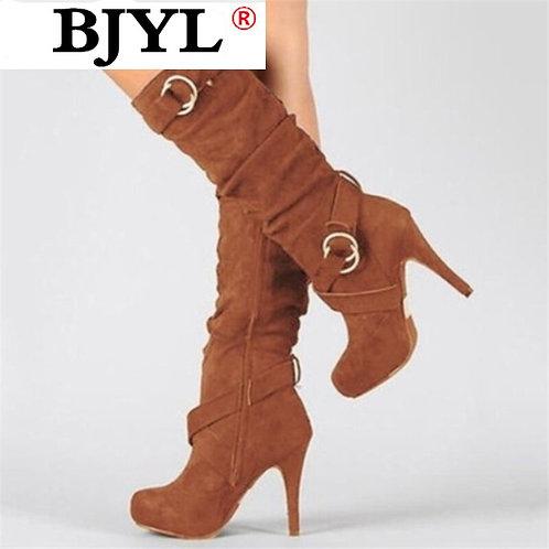 2020 Autumn Winter Women Boots Stretch Slim Thigh High Boot