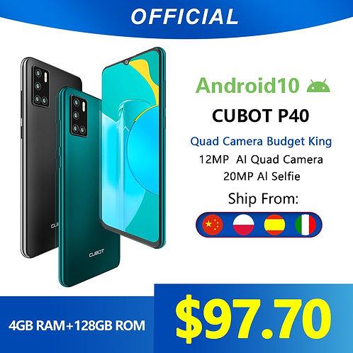Cubot P40 Rear Quad Camera 20MP Selfie Smartphone NFC 4GB+128GB