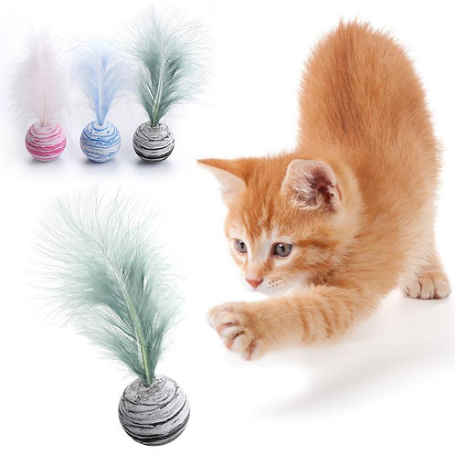 Delicate Cat Toy Star Balls Plus Feather High Quality EVA Material
