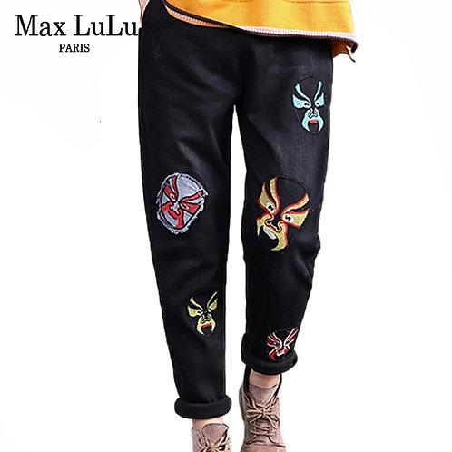 Max LuLu 2019 Fashion Korean Ladies Punk Winter Denim Trousers
