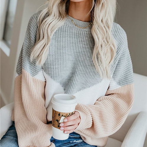 Loose Knitted Sweater Women Jumpers Long Sleeve Woman Pullovers