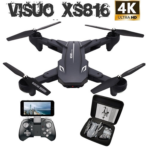 Visuo XS816 RC Drone With 50 Times Zoom WiFi FPV 4K Dual Camera Optical