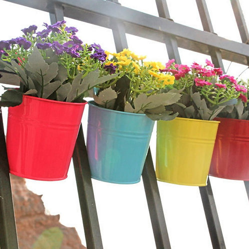 Removable Hanging Flower Pots Hook Wall Pots Garden Pots