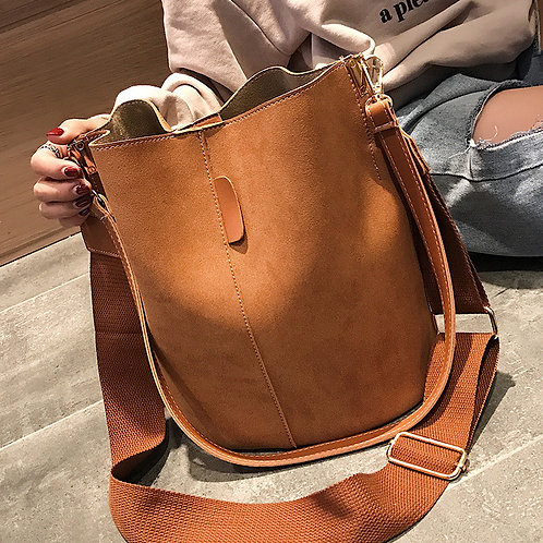 Messenger Bag Women Bucket Shoulder Bag Large Capacity
