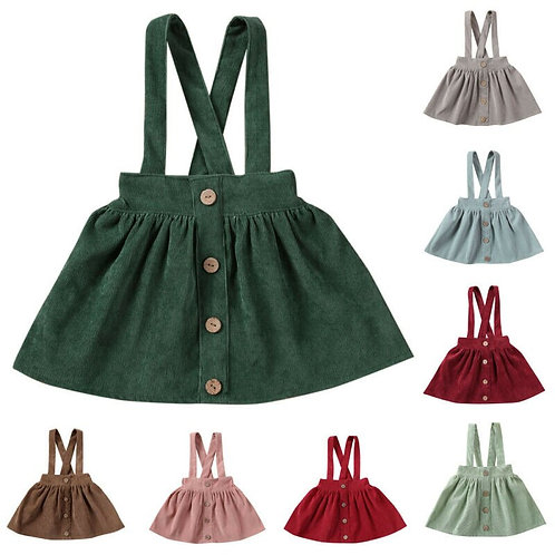 Pudcoco Kids Toddler Tutu Suspender Skirts Infant Baby Girl Ruffle