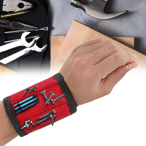 1pcs Magnetic Wristband Hand Wraps Tool Bag Adjustable Electrician