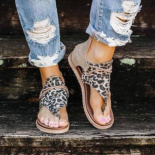 2020 Top Seller - Women Sandals Leopard Pattern Large Size