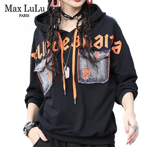 Max LuLu Korean Fashion Autumn Ladies Punk Style Clothes Womens